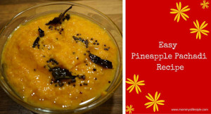 Pineapple Pachadi Recipe – Onam Special
